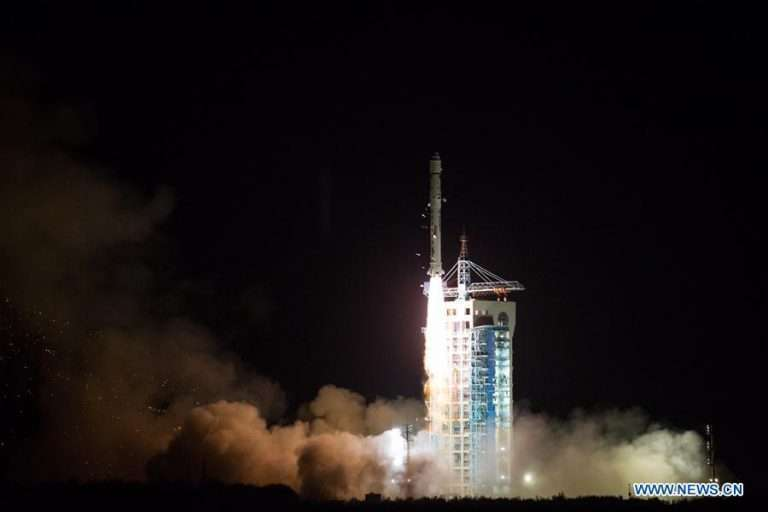 A Long March 2D rocket lifted off Wednesday with China's TanSat carbon-monitoring satellite. Credit: Xinhua