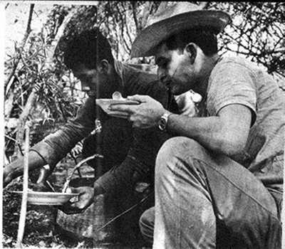 Foto: Rodrigo Moya. Publicada en la revista Sucesos con fotos sobre la guerrilla guatemalteca. 1966.
