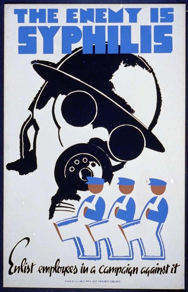 Un cartel de los años cuarenta cuyo fin era concienciar a los soldados de EE.UU. sobre los riesgos de la sífilis.loc.gov